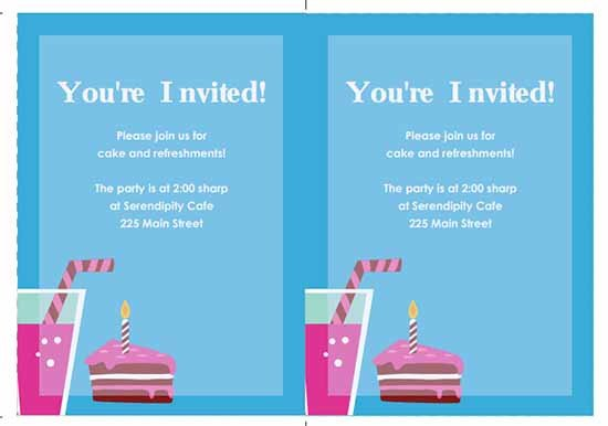 Birthday Invitation Templates Word 6 Free Party Invitation Templates Excel Pdf formats