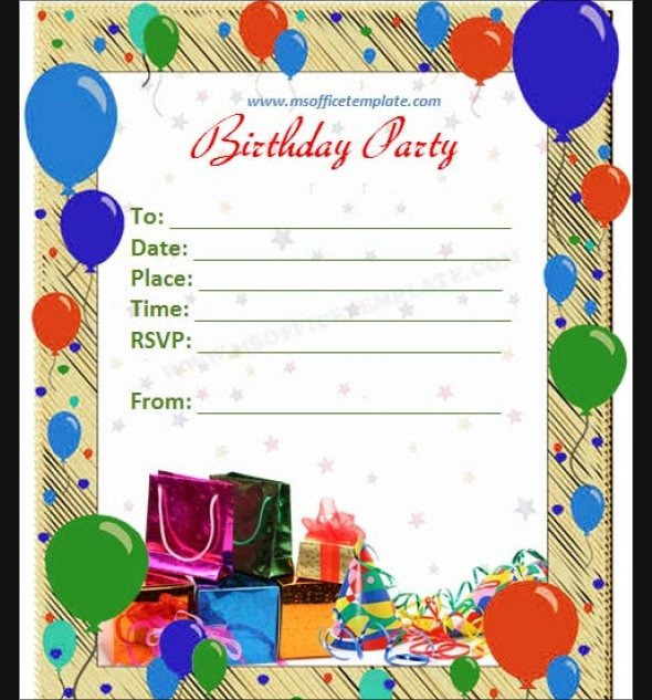 63 Printable Birthday Invitation Templates PDF PSD Word