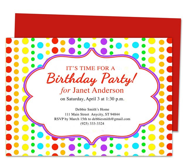 Birthday Invitation Templates Word Birthday Invite Template