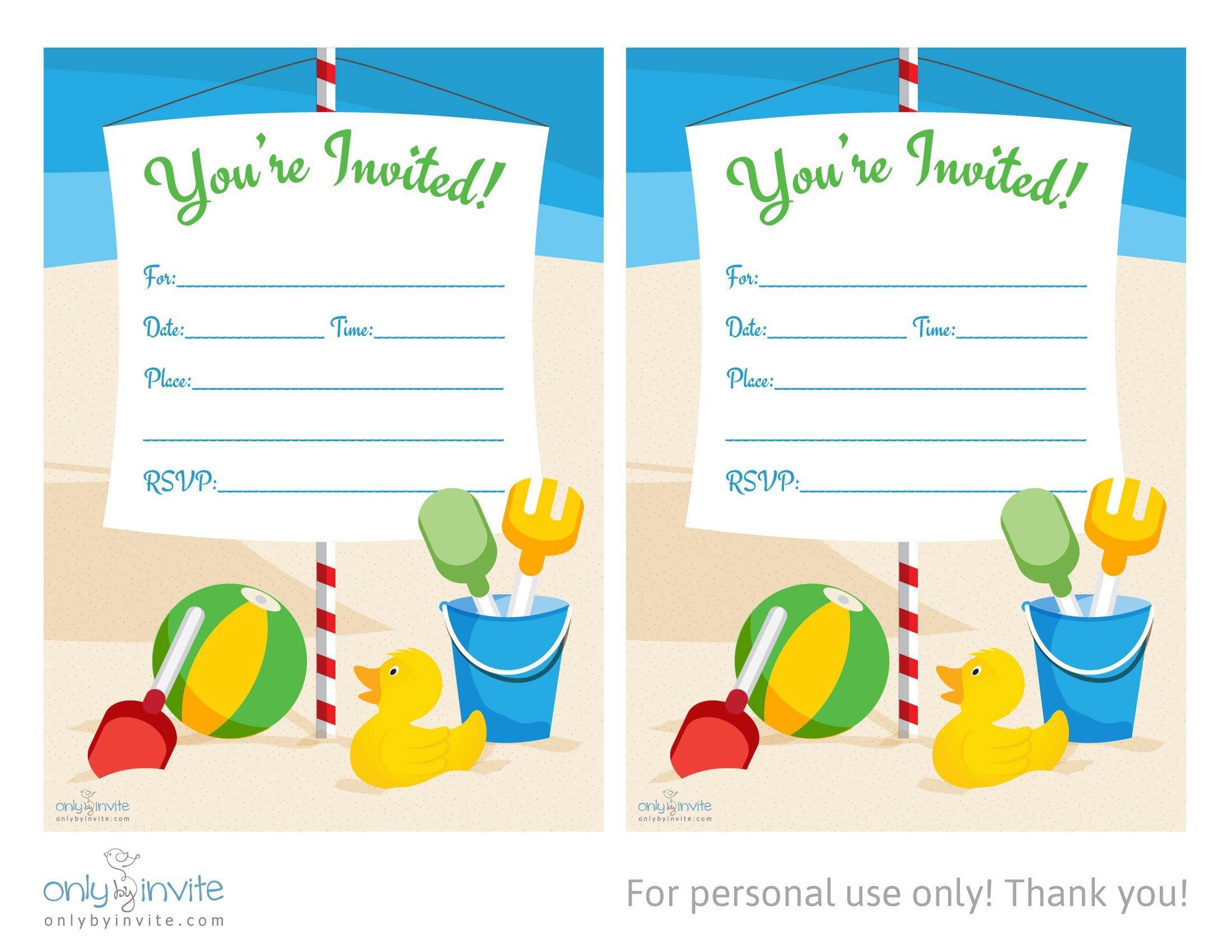 Birthday Invitation Templates Word Card Template Blank Invitation Templates Free for Word