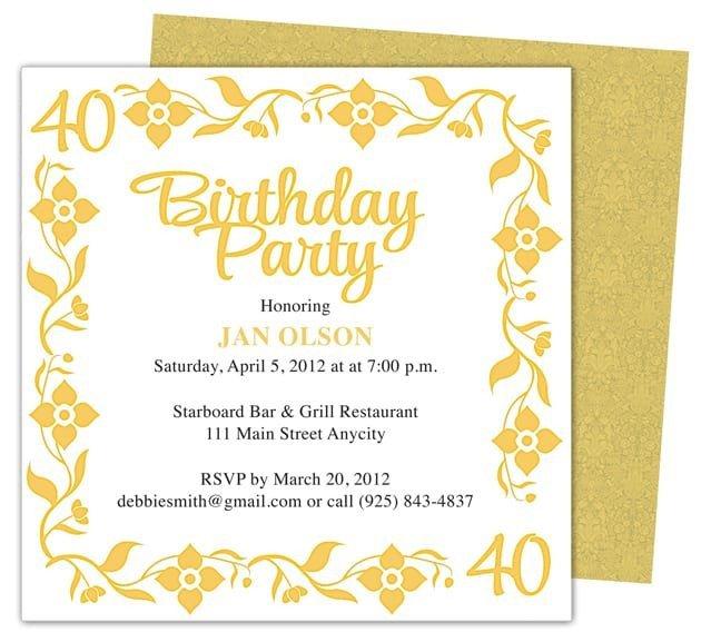 Birthday Invitation Templates Word Invitation Template Word