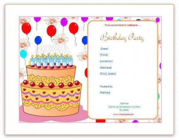 Birthday Invitation Templates Word Microsoft Word Templates Birthday Invitation Templates