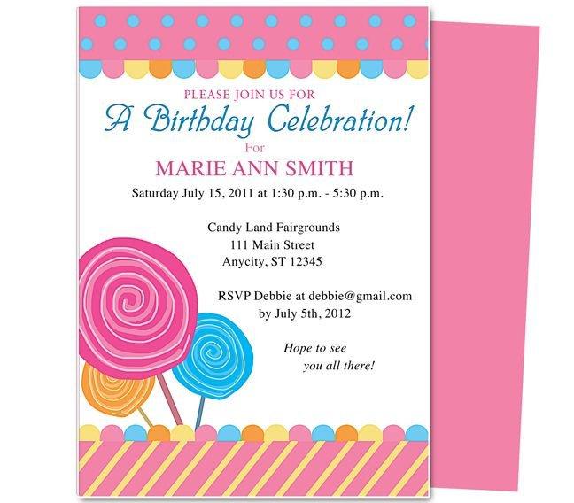 Birthday Invitation Templates Word Pin by Paulene Carla On Party Invitations