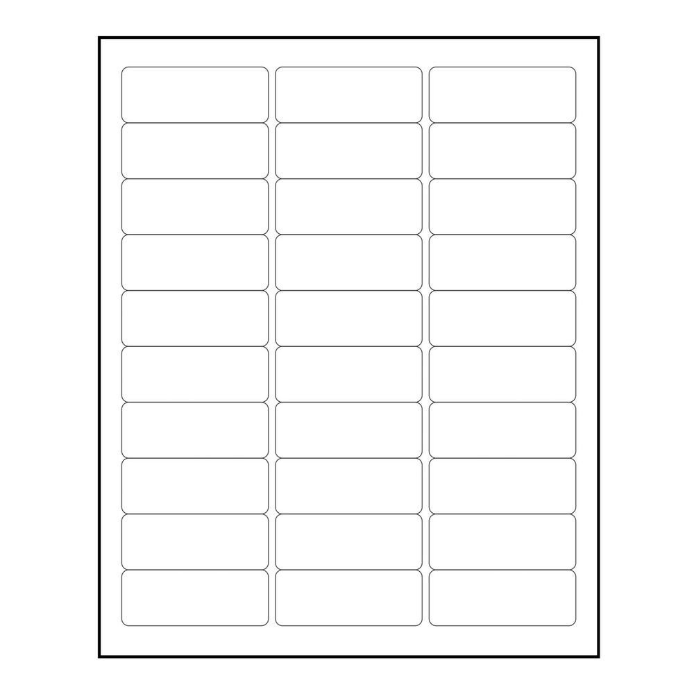 "3000 Blank 1"" x 2 5 8"" Return Address Labels Inkjet"