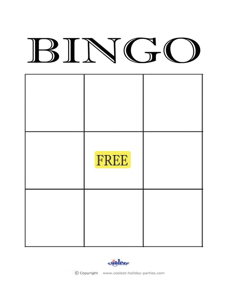 Best 25 Blank bingo cards ideas on Pinterest
