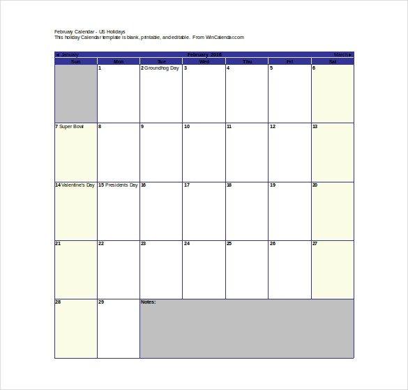 Blank Calendar Template Word 16 Printable Microsoft Word Calendar Templates