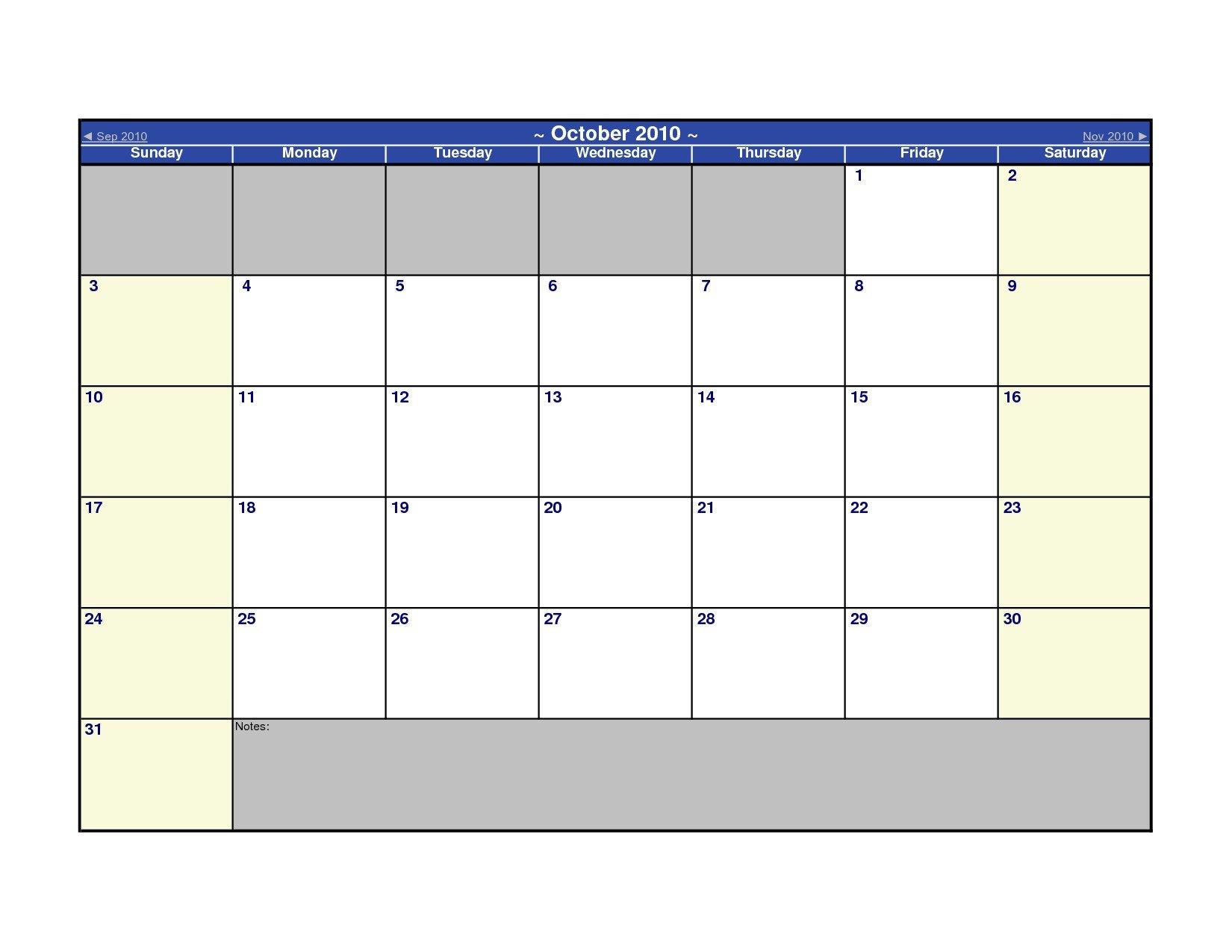 Blank Calendar Template Word Microsoft Calendar Templates