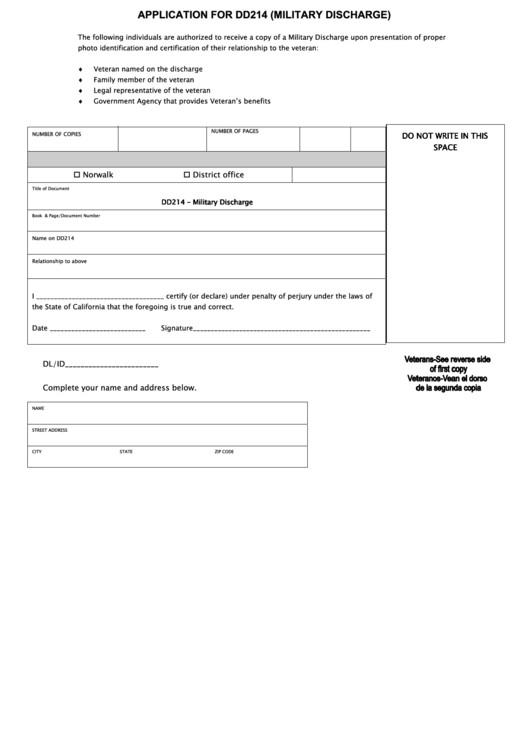 Blank Dd form 214 Pdf Fillable Application for Dd214 Military Discharge