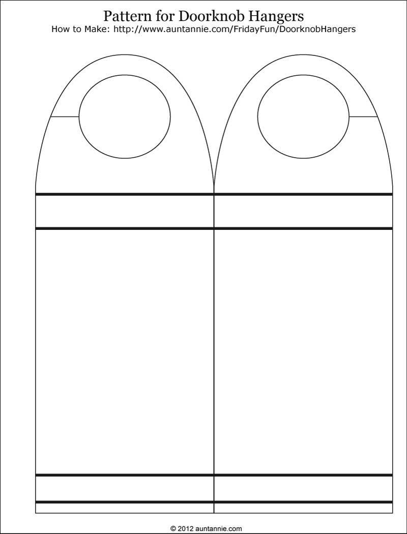 Blank Door Hanger Template Blank Printable Doorknob Hanger Template
