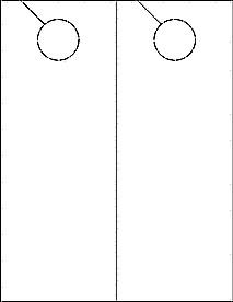 """Blank Door Hanger Template Door Hanger Ol245 4 25"""" X 11"""" Blank Label Template"""