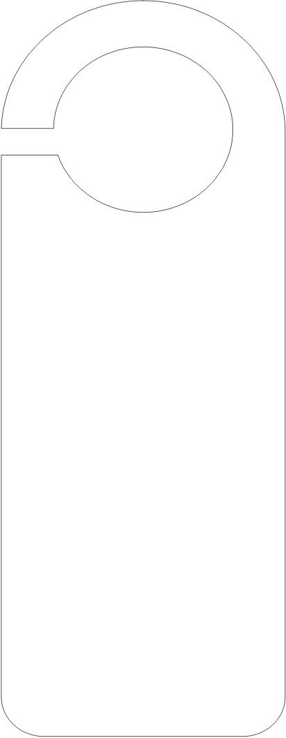 """Blank Door Hanger Template """"i Need to Be Alone"""" Door Hanger Template – Craft Ideas"""