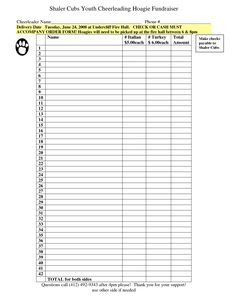 Pin by Angela Anderson on Fundraising forms