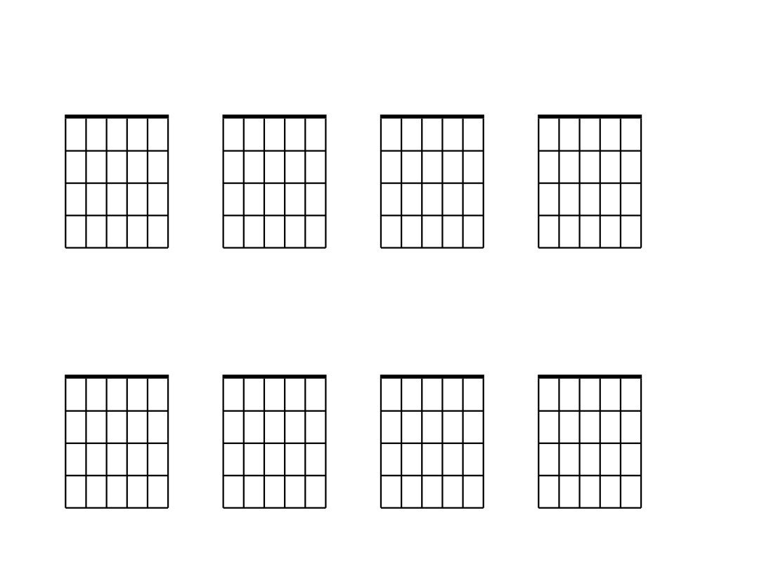 Blank Guitar Chord Chart Blank Guitar Chord Chart