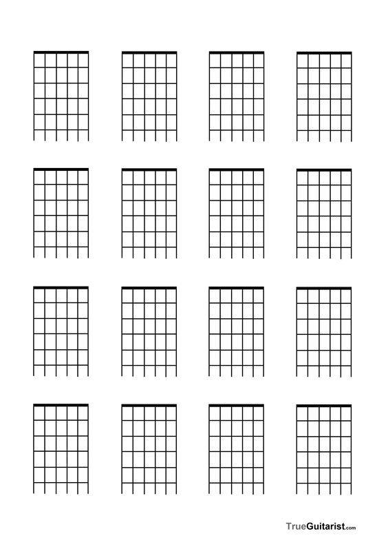 Blank Guitar Chord Chart Blank Guitar Fretboard Diagramfree Blank Music Paper