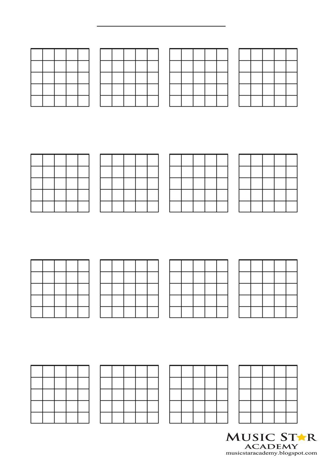 Blank Guitar Chord Chart Music Star Academy Free Downloads
