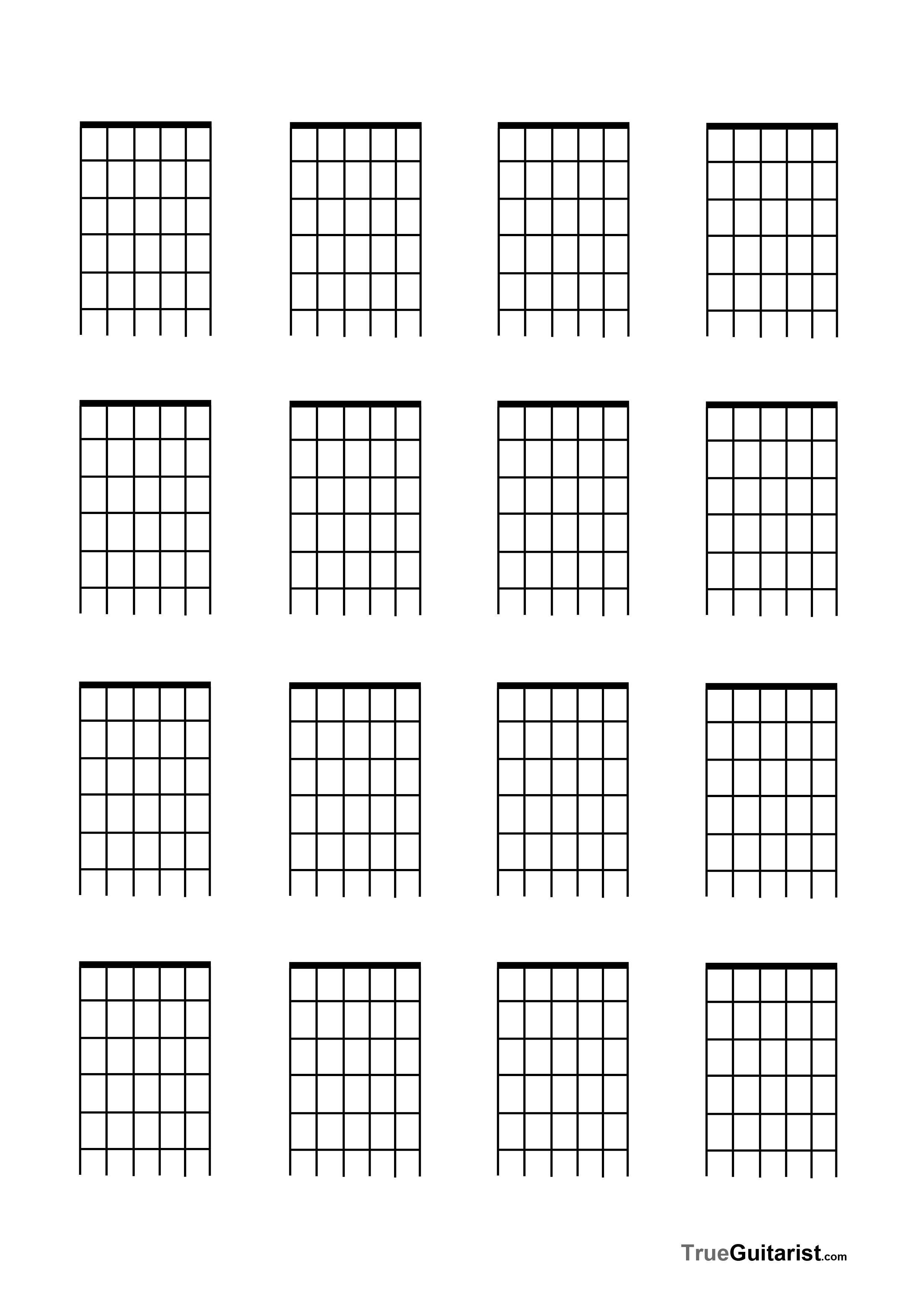 Blank Guitar Chord Chart Pin by Jessica Avery On Matt
