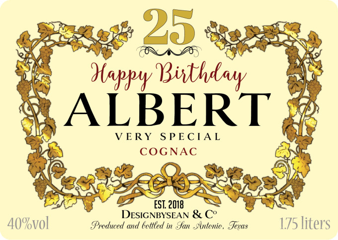 Blank Hennessy Label Design A Custom Birthday Hennessy or Henny Label by