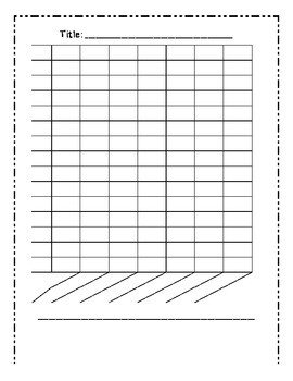 Blank Line Graph Template Blank Bar Graph Template 7 Columns by Mrs Cassady