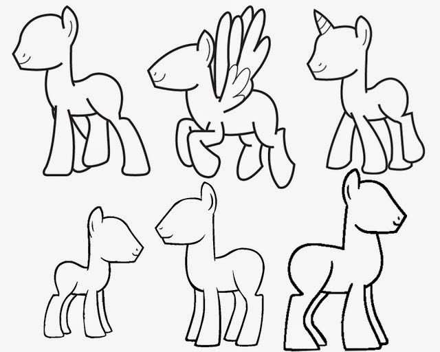 Blank My Little Pony Template Mlp Inspirations Coloring Pages