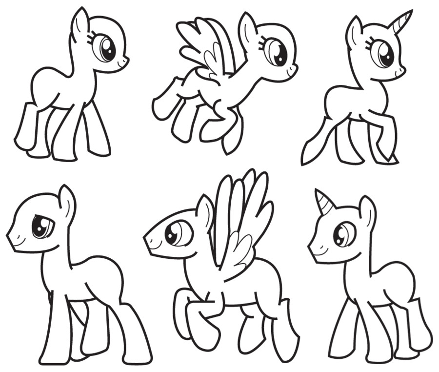 Blank My Little Pony Template My Little Pony Template Printables