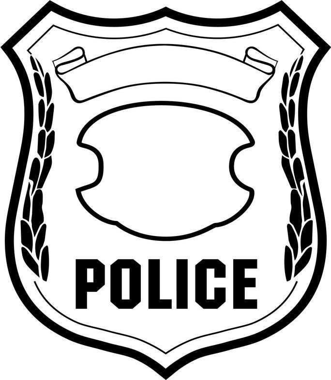 Blank Police Badge Template Best Police Badge Clipart Clipartion