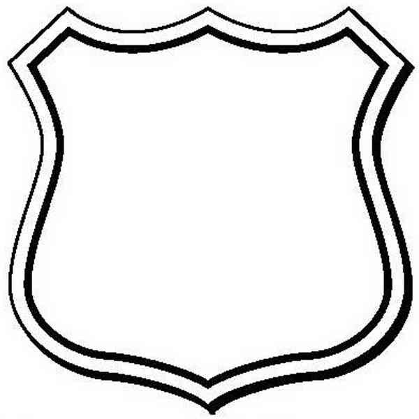 Blank Police Badge Template Police Badge Clip Art Clipart Best Sketch Coloring Page