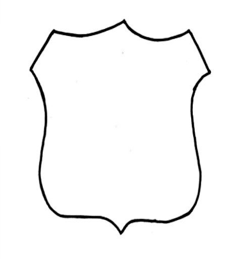 Blank Police Badge Template Police Ficer Badge Outline Clipart Library