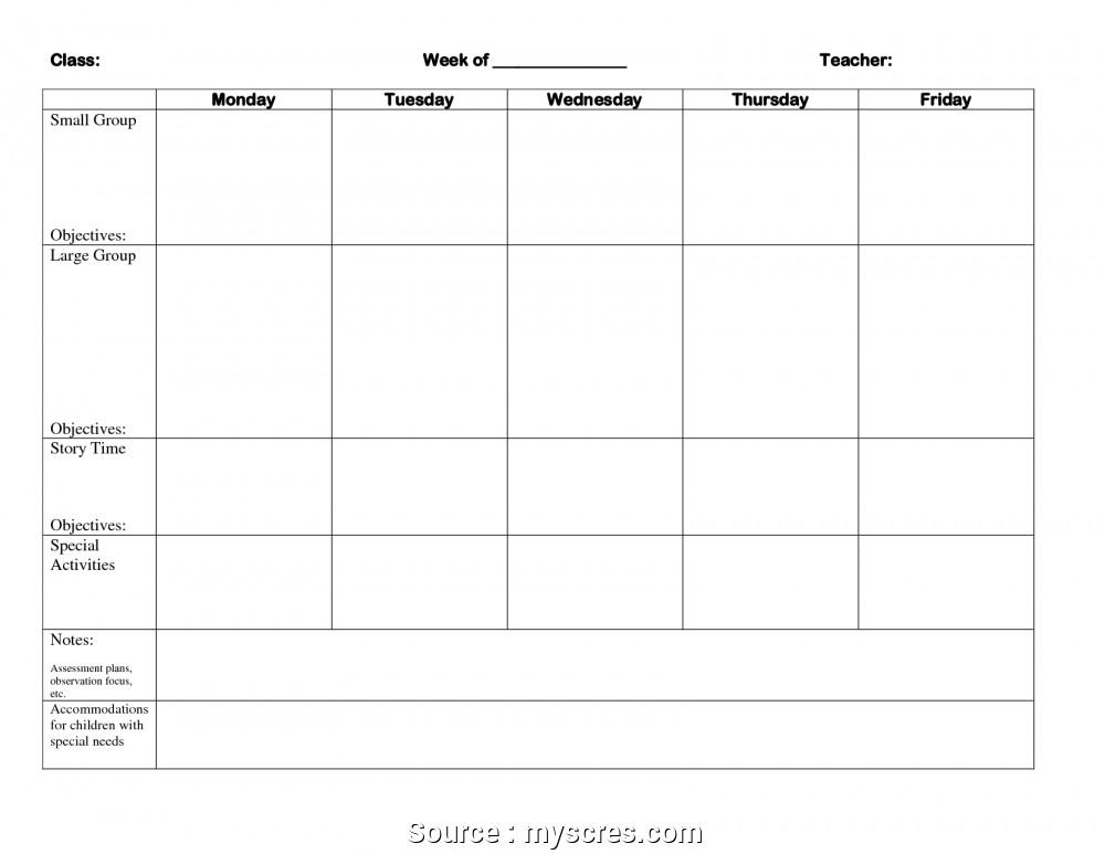 Blank Preschool Lesson Plan Template Preschool Lesson Plan Template with Objectives – Visual