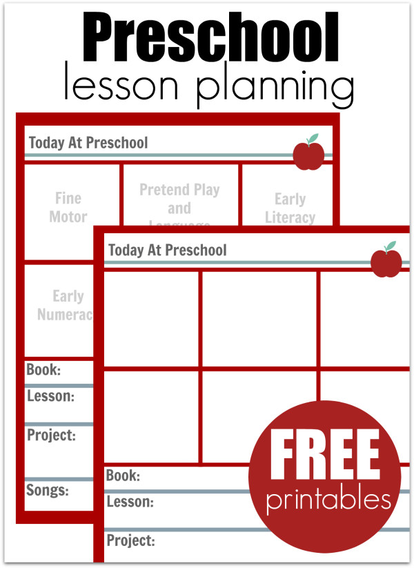 Blank Preschool Lesson Plan Template Preschool Lesson Planning Template Free Printables No
