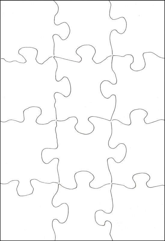 "poz A Puzzle Rectangle 5 1 2"" x 8"" 12 Pieces 10"