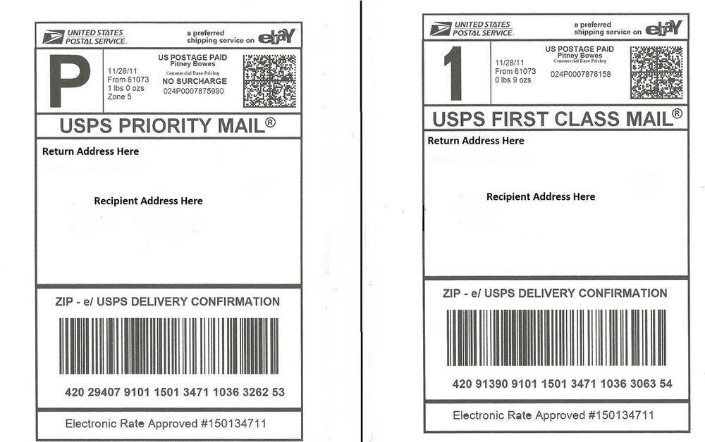 Blank Shipping Label Template 100 Self Adhesive Shipping Labels Laser Inkjet Printer
