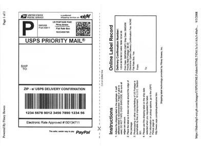 Blank Shipping Label Template 200 200 W Shipping Label Self Adhesive for Paypal Usps