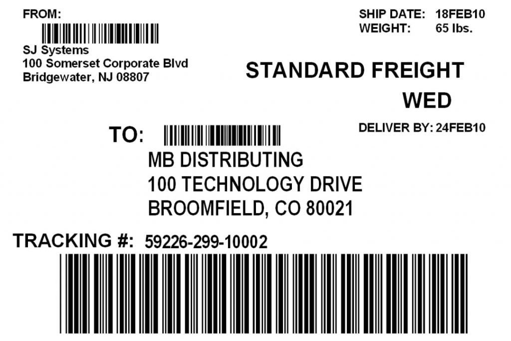 Blank Shipping Label Template 5 Free Shipping Label Templates Excel Pdf formats