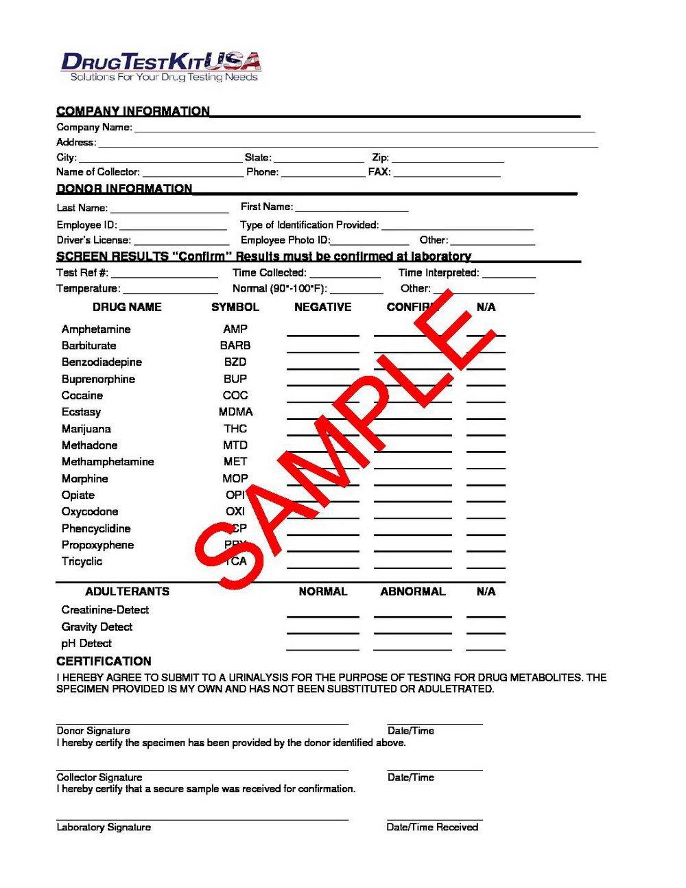 Blank Std Test Results form Negative Std Test Results form 2015 forms 7013