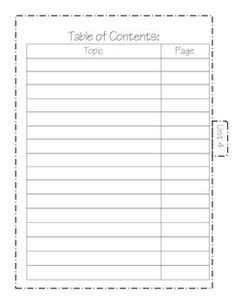 Blank Table Of Contents 1000 Ideas About Table Contents Template On Pinterest