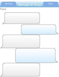 Blank Texting Template Blank Twitter Feed Template Imessage Practice Spanish