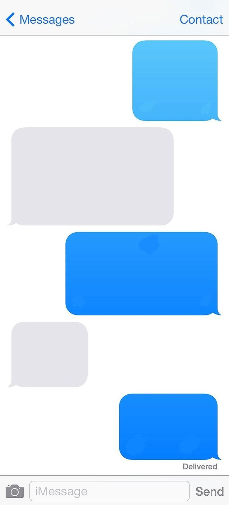 Blank Texting Template iPhone Template Imessage Message Blank Freetoedit