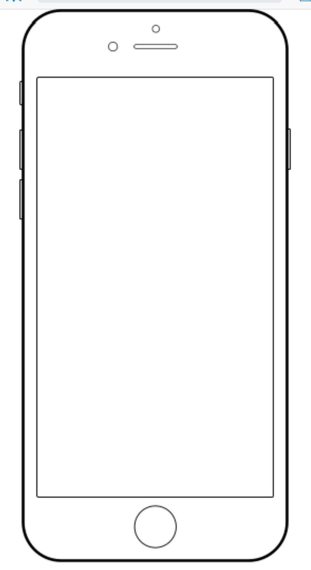 Blank Texting Template iPhone Template Teaching