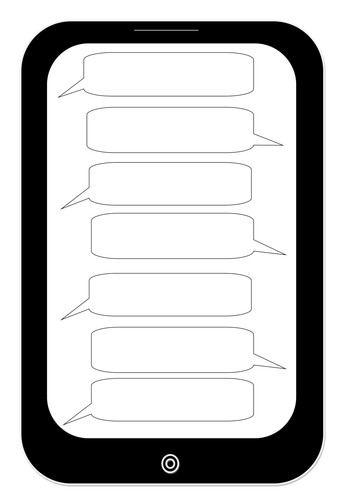 Blank Texting Template Text Message Template by Suzbrawn Teaching Resources Tes
