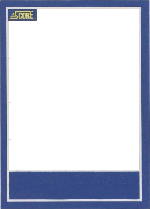 Blank Trading Card Template Baseball Card Template