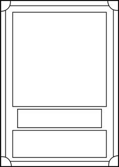 Blank Trading Card Template Printable Trading Card Template