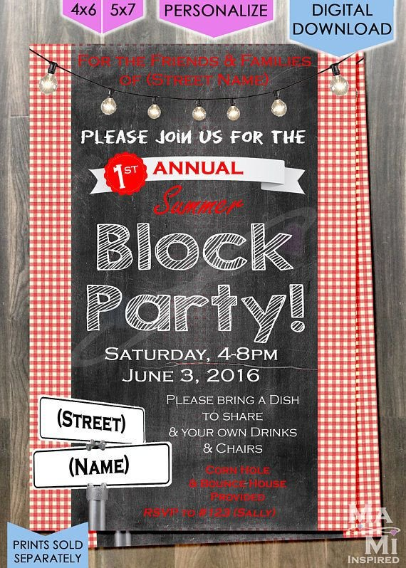 Block Party Invitation Template Best 25 Block Party Invites Ideas On Pinterest