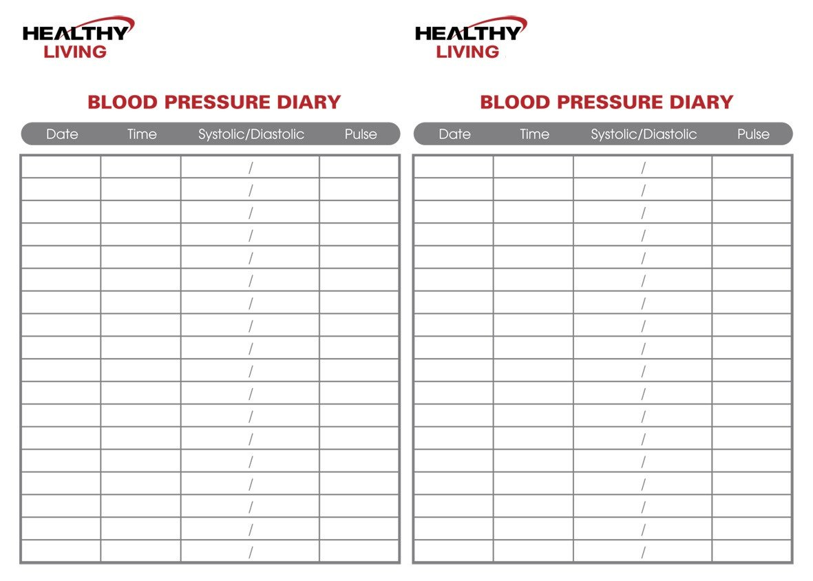 Blood Pressure Chart Template 19 Blood Pressure Chart Templates Easy to Use for Free