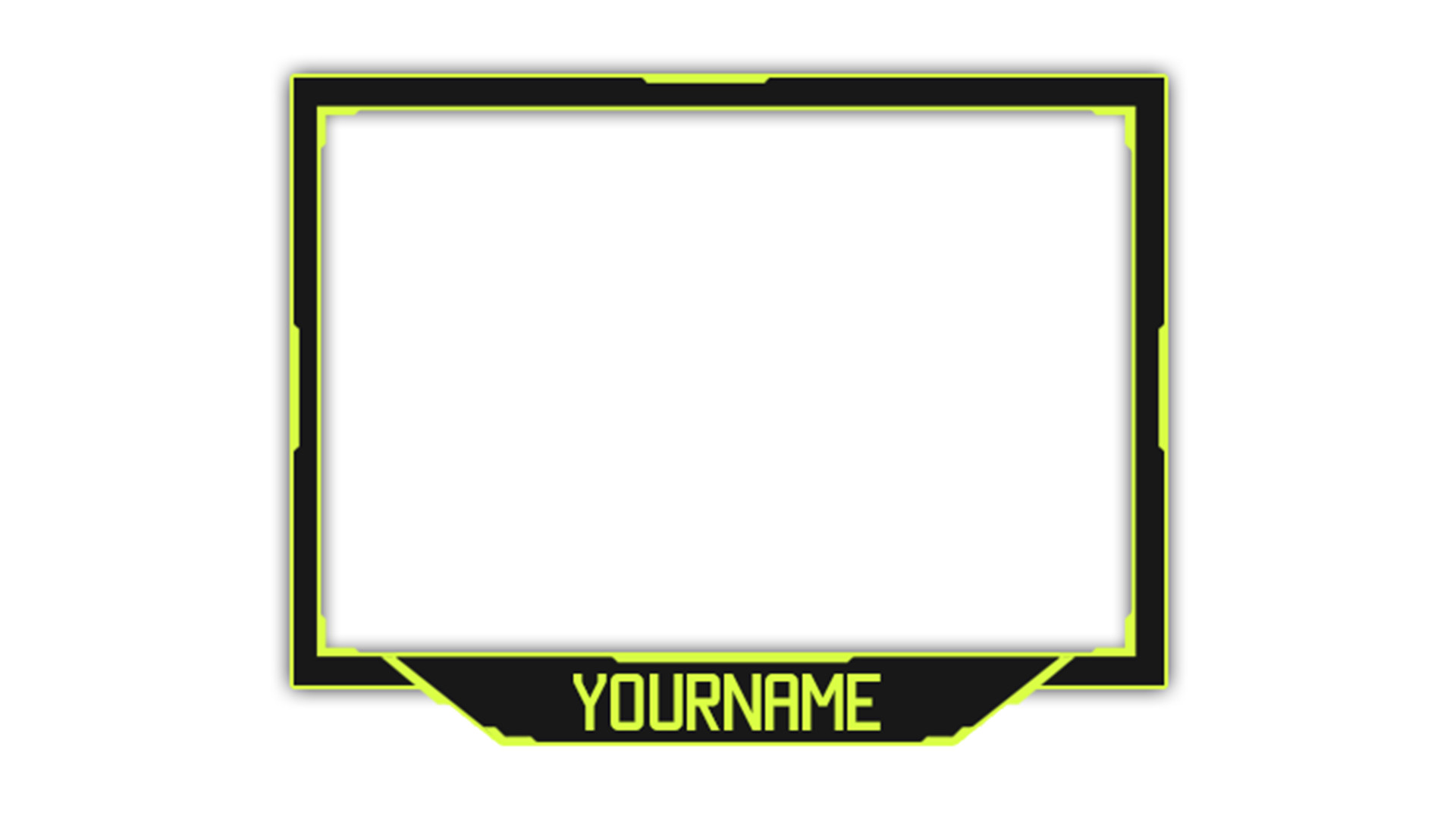 Blue Facecam Border 23 Of Blue and Facecam Over Template