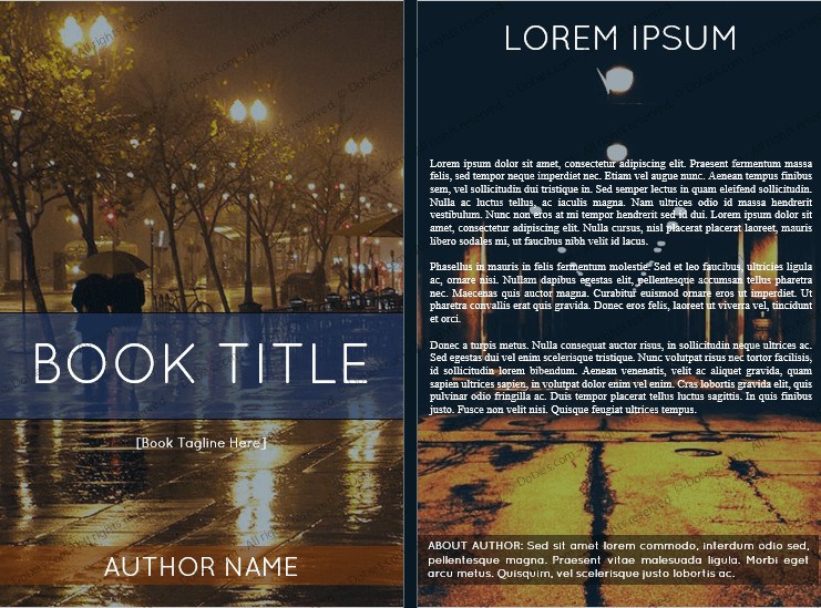 Book Cover Template Word Book Cover Template for Microsoft Word 6 X 9 Dotxes