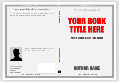 Book Cover Template Word Cover Templates for Print – Use Ms Word to Create