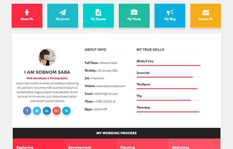Bootstrap Resume Template Free 30 Best Free Bootstrap Templates to Download In 2018