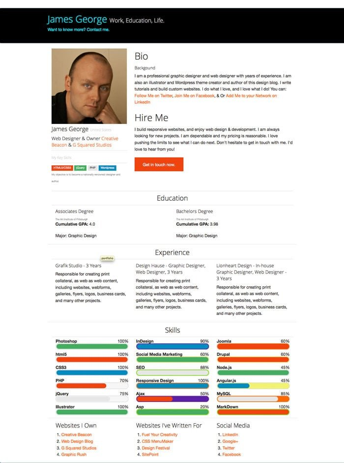 Bootstrap Resume Template Free Free Bootstrap Resume Template Design Crawl