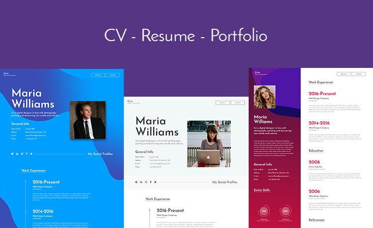 Bootstrap Resume Template Free Let S Build Your Line Profile with This Free Bootstrap