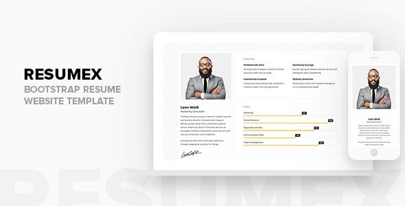 Bootstrap Resume Template Free Resumex Bootstrap Resume Website Template Tfx Fxtheme